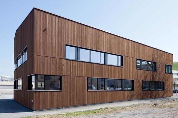 Birrerholz | Braun impraegnierte Holzschalung